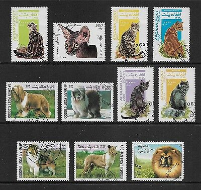 AFGHANISTAN, Afghan Post - mixed collection, Cats & Dogs