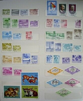 Assorted - ROMANIAN - USED - Postage Stamps - Approx 46 stamps - lot 2