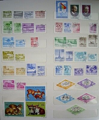 Assorted - ROMANIAN - USED - Postage Stamps - Approx 39 stamps - lot 1
