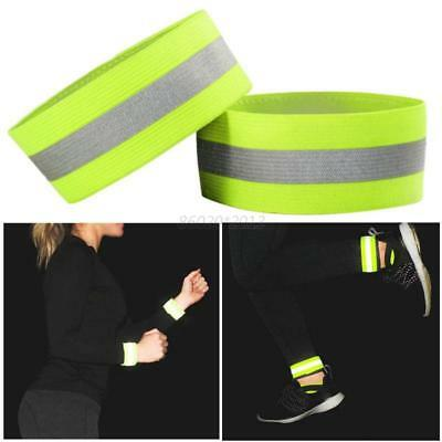 AU Outdoor Night Running High Visibility Reflective Safety Straps Vest Bracelet