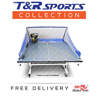 Double Fish Table Tennis Robot / Trainer with Ball Catching Net & 100 Balls