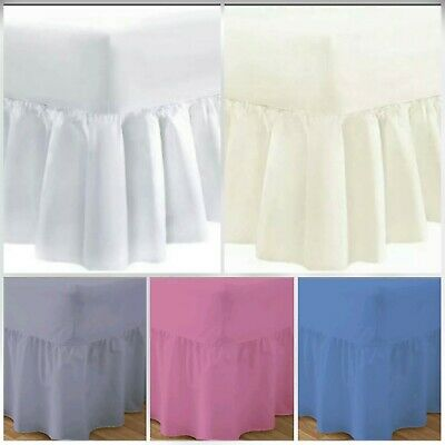 8'' Frill Length 4 Ft Polly Cotton Small Double Fitted Valance Sheets Pollycotto