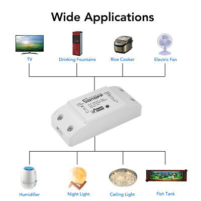 Sonoff ABS WiFi Smart Prise de Courant Interrupteur Switch Remote Control HS993