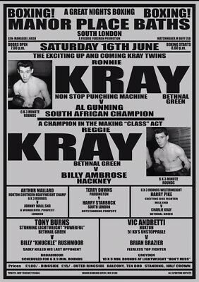 The Krays Boxing A3 Poster