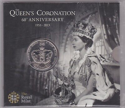 Sealed 2013 Base Metal £5 Coin In Royal Mint Flatpack Queens Coronation
