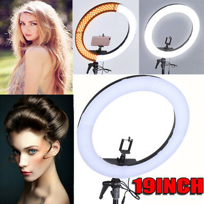 "19"" SMD LED Ring Light Dimmable 5500K Continuous Lighting Photo Video Kit"