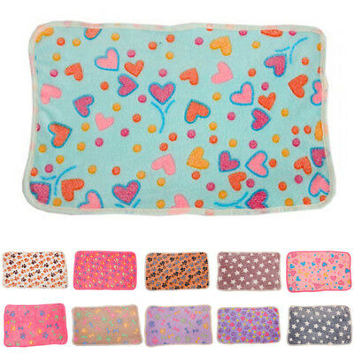 New Pet Mat Small Large Paw Print Cat Dog Puppy Fleece Soft Blanket Bed Cushion
