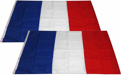 2 PACK - 3x5 Ft Polyester France Flag French Country National Flag F - FRANCE