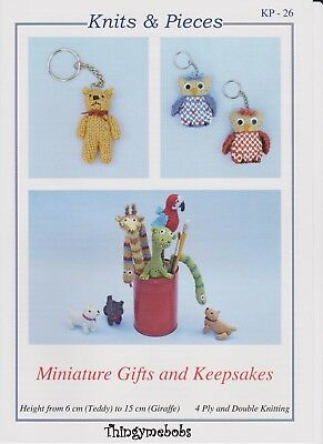 Knits &/and Pieces Kp26 Miniature Gifts &/and Keepsakes Knitting Pattern