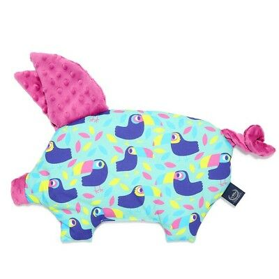 Sleppy Pig Pillow La Millou Tucans Raspberry  Gift Baby Shower Crib Cot Puschair