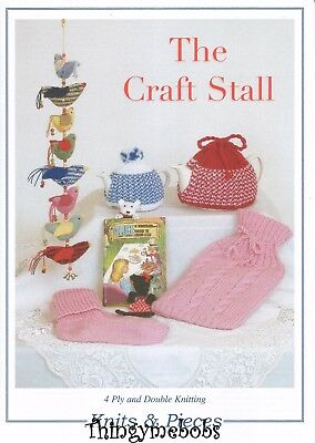 Knits &/and Pieces The Craft Stall Knitting Pattern - Dk/4Ply - 5 Patterns
