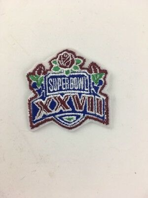 Super Bowl Football XXVII 27 Logo Patch Dallas Cowboys vs Buffalo Bills 1993 2""