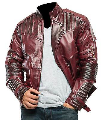 Starlord Guardians of the Galaxy 2 Chris Pratt Peter Quill Maroon Leather Jacket