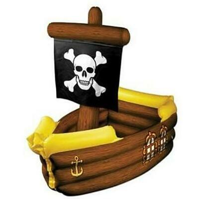 Pirate Ship Inflatable Cooler Pirate Birthday Halloween Party Prop Decor