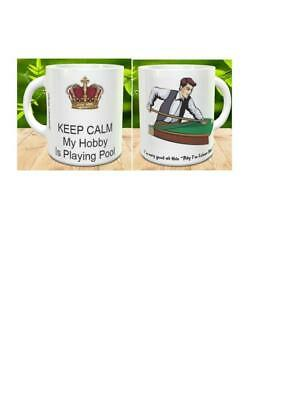 Make Them Smile Collection: A PERSONALISED MUG for an  Pool Player H25