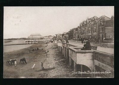 Somerset BURNHAM-ON-SEA The Sands Used 1922 PPC pub by C Sheppard