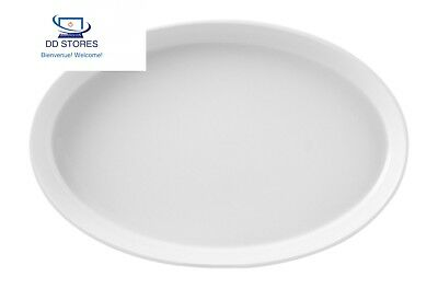 H & Table Hotelware plat ovale, porcelaine, blanc, 52 x 33 9 cm