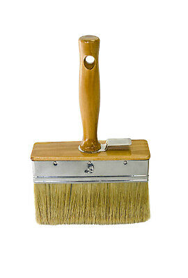Bon 84-140 6 in. x 2 in. Plaster Brush with White China Bristles and Wood Handle