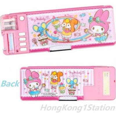 Sanrio My Melody Multi Functional 2 Sided Holder Pencil Pen Case Box Sharpener