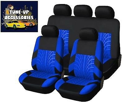 Premium Grey / Blue Trax Seat Cover Set For Peugeot 407 Coupe 06-10