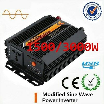 3000W Max Power Inverter Modified Sine Wave DC 12V to AC 240V Power Display