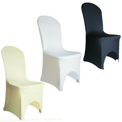 100pcs White Chair Covers Spandex Lycra Chair Cover for Wedding Party Banquet UK