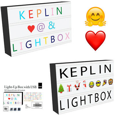 Fun Cinematic Light Up Box Letter Sign Emoji USB Wedding Party LED Message Board
