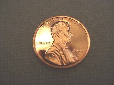 2000 S Lincoln Memorial Gem Proof Penny