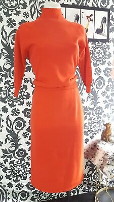 Vintage/retro Gino Poali 2 piece wiggle sweater blouse/skirt set. Made in italy