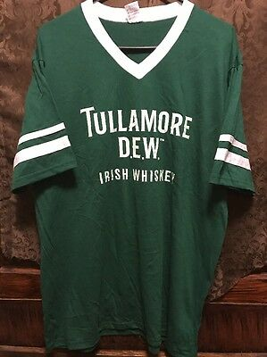TULLAMORE DEW WHISKEY ~ SM ~ NEW Rugby Soccer Football Style Shirt BONUS KOOZIE