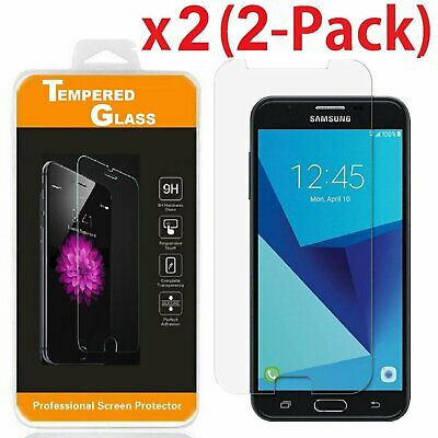 2-Pack Tempered Glass Screen Protector For Samsung Galaxy J7 v / J7 Perx (2017)