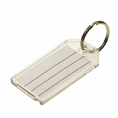Lucky Line Extra Strength Key Tag with Split Ring; 100 Per Box; Clear 20400