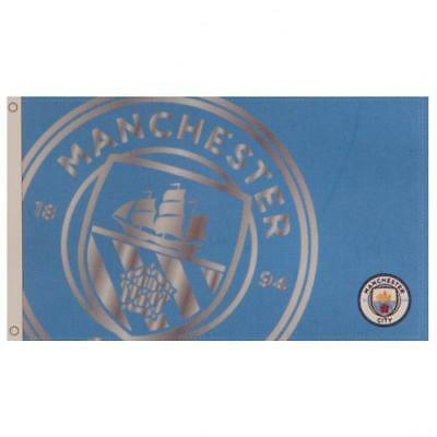 Manchester City FC / Man City Official Large Flag (5ft x 3ft) With Metal Eyelids