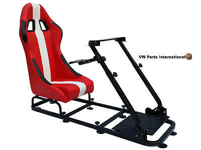 Car Gaming Racing Simulator Frame Chair Bucket Seat PC PS3 PS4 XBOX Black/Orange