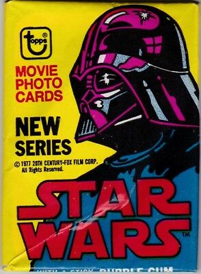Star Wars 1977 Topps Series Two 2 Red Border Unopened Wax Pack