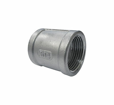 """Stainless Steel 304 Cast Pipe Fitting Coupling, Class 150, 1/2"""" NPT Female"""