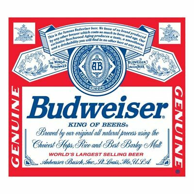 "Budweiser Beer Die-Cut Vinyl Sticker 4""x3.5"""