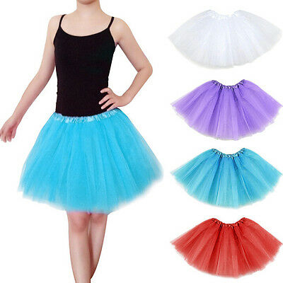 Teens Girl Tutu Ballet Skirt Tulle Costume Fairy Party Hens Nigh FF