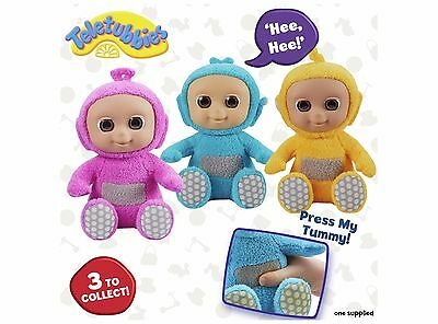 Teletubbies Tiddly Tubbies Giggling Collectable 8 Inch: 4 pink, 2 blue, 1 yellow