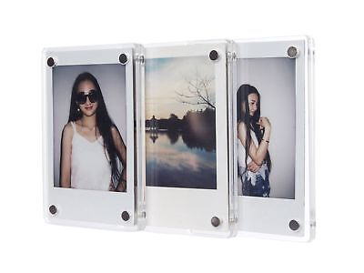 [Fujifilm Instax Mini Frame] -- CAIUL Clear Acrylic Fridge Magnetic Frame... NEW
