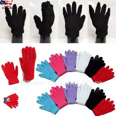 6~12 Pairs Men Women Magic Fuzzy Cozy Winter Warmer Knit Knitted Gloves Stretch