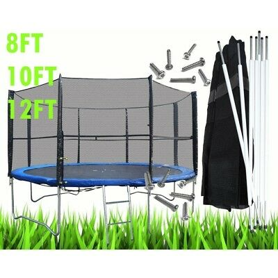 Bodyrip Pièce de Rechange Trampoline Clôture Surround Set Pôles & Filet 8 10 12
