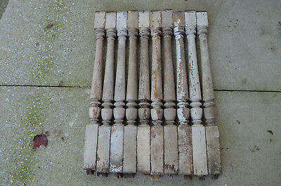 ARCHITECTURAL SALVAGE 10 PRE-CIVlL WAR AM CHESTNUT WOODEN SPINDLE POST BALUSTER