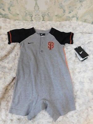 NWT Child's Baby Toddler Nike San Francisco Giants 1 Piece 24M