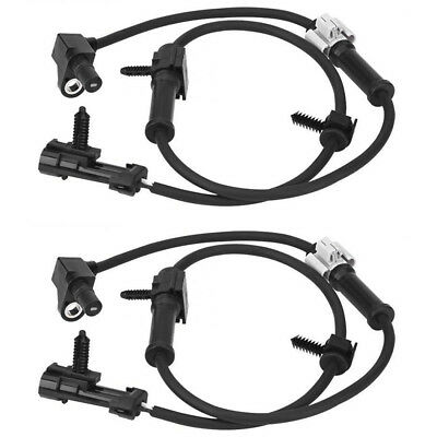 2Pcs Front Left Right ABS Wheel Speed Sensor 19181873 Fit Chevrolet Cadillac GMC
