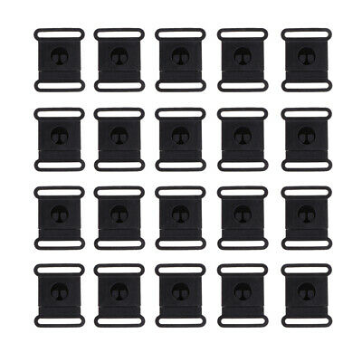 20Pcs POM Side Release Plastic Buckles Clips For Webbing Fastener Replacement