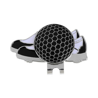 New Black Shoe Design Golf Hat Clip with Magnetic Ball Marker Golfer Gift