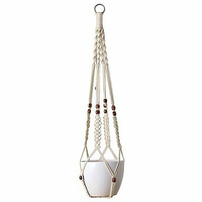 Mkono Macrame Plant Hanger Hanging Planter Basket Cotton Rope 4 Legs 35 Inches