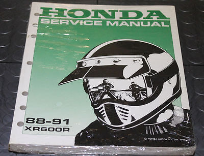 NOS OEM Honda Service Shop Manual NEW 88-91 XR600R XR 600 R