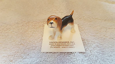 Hagen Renaker Dog Beagle Figurine Miniature Nice Gift New Free Shipping 00432